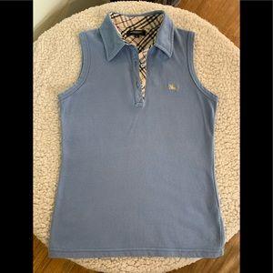 BURBERRY polo vest top